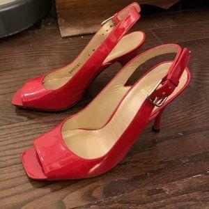 Stuart Weitzman Red Sandal Pumps Size 6